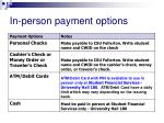 in person payment options