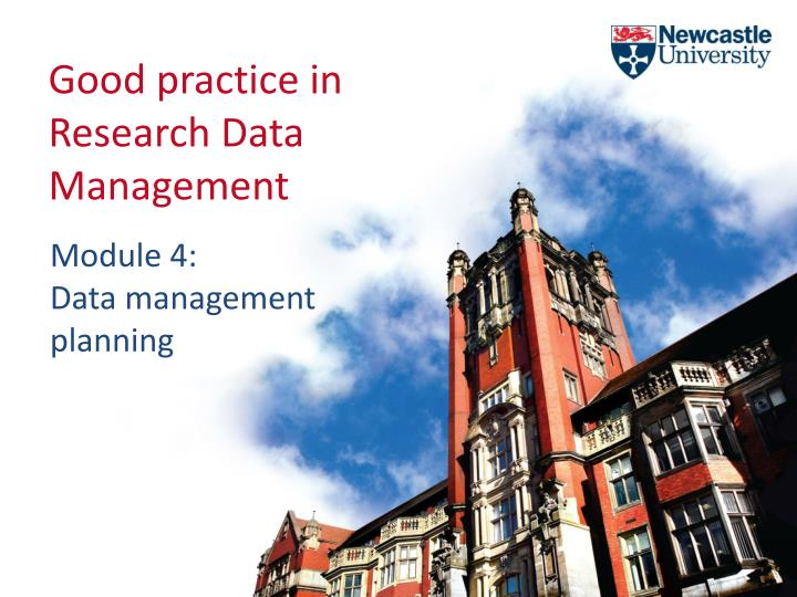good practice in research data management n.