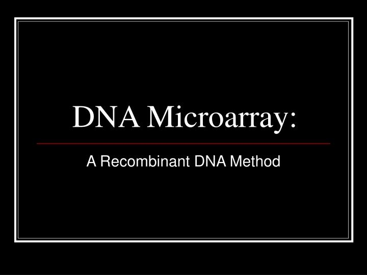 dna microarray n.