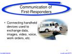 communication of first responders