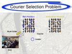 courier selection problem