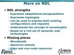 more on ndl