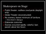 shakespeare on stage
