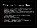writing and developing plays