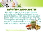 ayurveda and diabetes