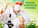 manage diabetes by ayurveda