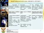 audit findings and action plan 2009 2010 v 2010 2011