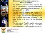statement of financial performance variance analysis
