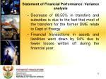 statement of financial performance variance analysis1
