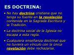 es doctrina
