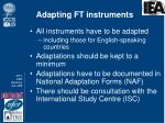 adapting ft instruments
