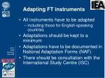 adapting ft instruments