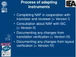 process of adapting instruments