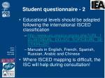 student questionnaire 2