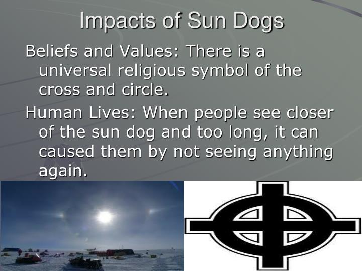 Impacts of Sun Dogs