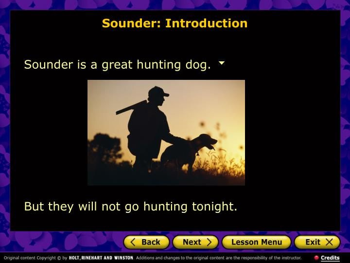 Sounder: Introduction