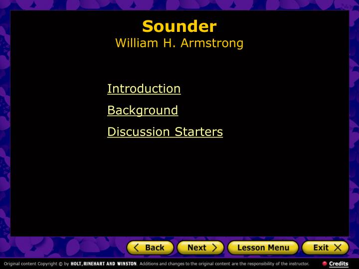 Sounder william h armstrong