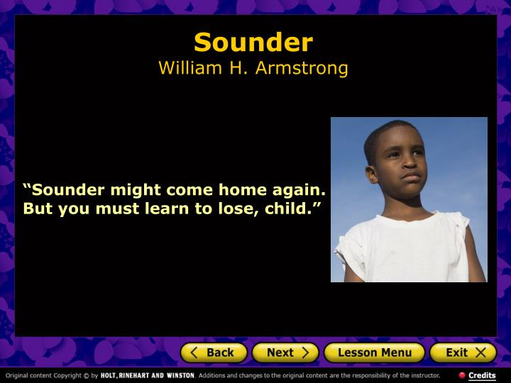 Sounder william h armstrong1