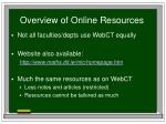 overview of online resources1