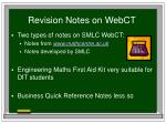 revision notes on webct