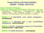 projeto escola de educadores unesp proex 2004 2010
