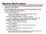 windows win32 module