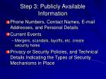 step 3 publicly available information2