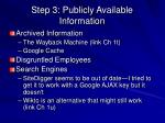 step 3 publicly available information3