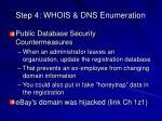 step 4 whois dns enumeration10