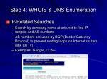 step 4 whois dns enumeration8