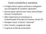 fonti cronistiche e narrative2