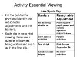 activity essential viewing