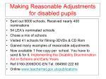 making reasonable adjustments for disabled pupils