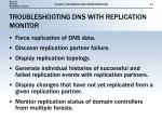 troubleshooting dns with replication monitor