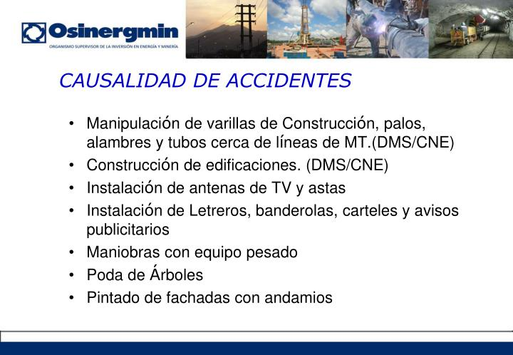 CAUSALIDAD DE ACCIDENTES