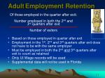 adult employment retention