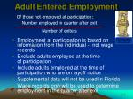 adult entered employment