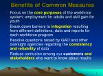 benefits of common measures