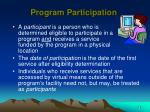 program participation