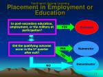 youth and lifelong learning placement in employment or education2