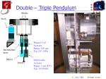 double triple pendulum