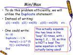 min max13
