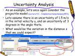 uncertainty analysis1