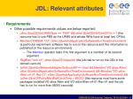 jdl relevant attributes2