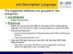 job description language