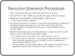 nonunion grievance procedures