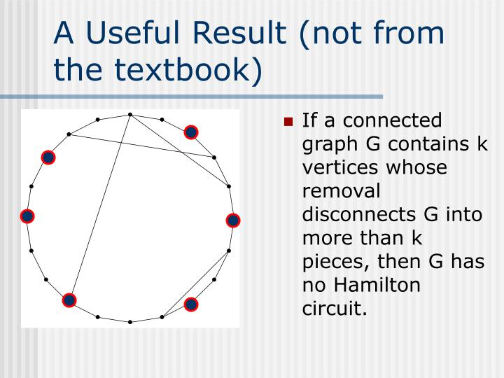 A Useful Result (not from the textbook)