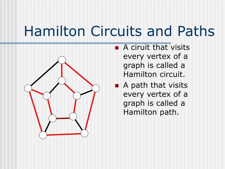 Hamilton circuits and paths