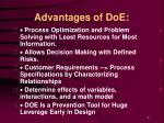 advantages of doe