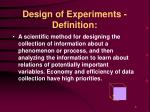 design of experiments definition